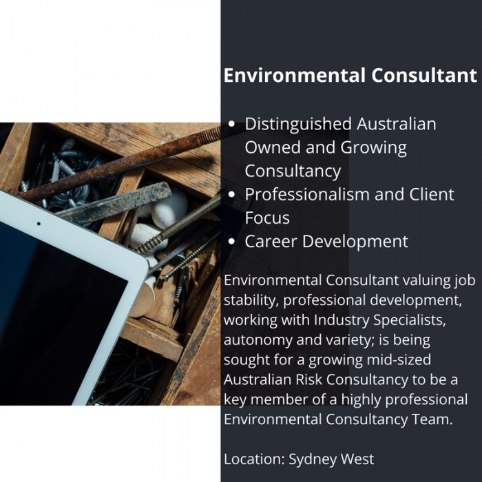 Environmental Consultant Advert