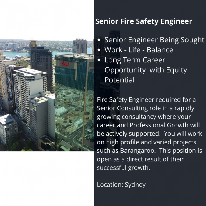Safety Fire Engineer April 2017